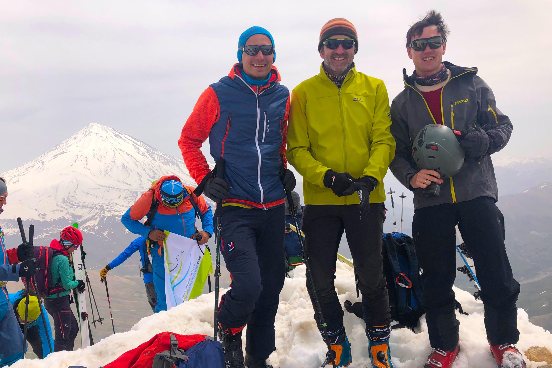 Intan employees mountain climbing