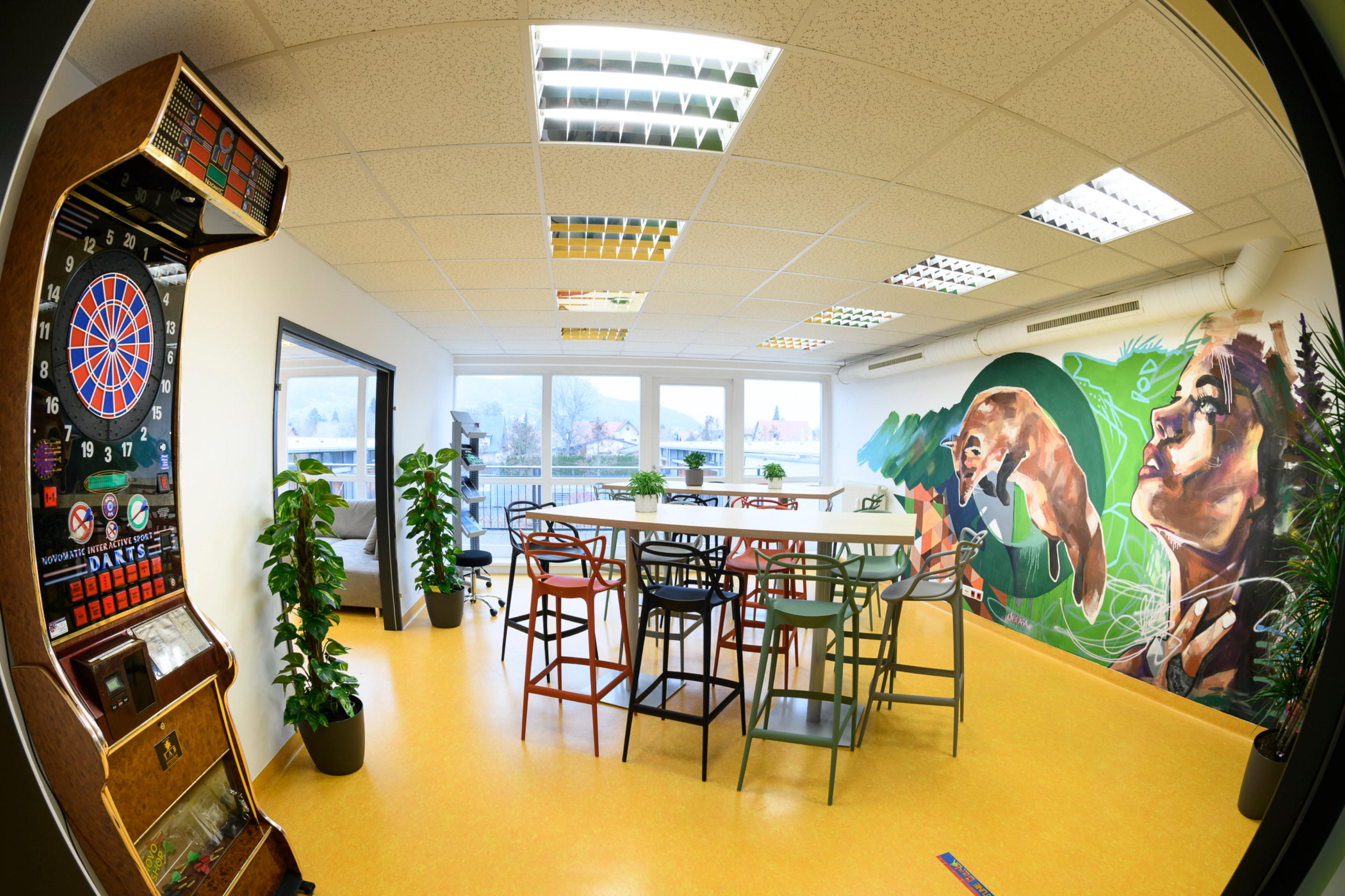 Social Room at Intact HQ in Lebring
